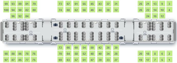 Посмотреть схему мест в поезде ласточка перед покупкой.