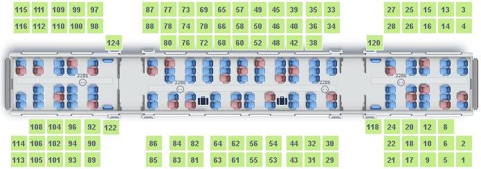 Ласточка схема вагона